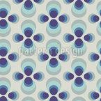 水玉の花 シームレスなベクトルパターン設計