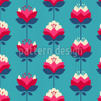 Water Lily  Vector Ornament