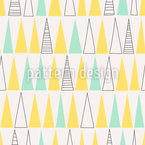 Triangle Forrest Seamless Vector Pattern Design