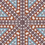 半円形モザイク シームレスなベクトルパターン設計