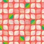 Abstract Retro-Flowers Repeating Pattern