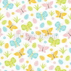 Easter Butterflies Pattern Design