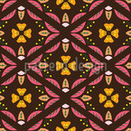 Leaf Fence Seamless Pattern