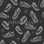 Sportliche Schuhe Nahtloses Vektor Muster