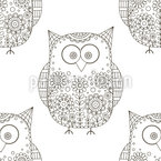 Doodle Owls Repeat Pattern