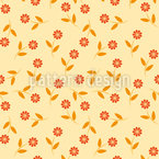 Sprinkled Flowers  Pattern Design