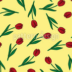 Liebes-Tulpen Nahtloses Muster
