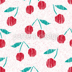 Merry Cherry Repeating Pattern