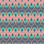 Peacock Moth Seamless Vector Pattern Design