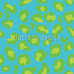 Cheetah Goes For A Swim Seamless Vector Pattern