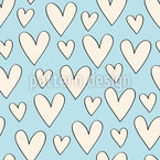 Flying Love Seamless Vector Pattern Design