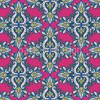 Symmetrischer Blumenstrauß Nahtloses Vektormuster