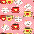 I Love Coffee And You Vector Design