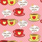 Ich Liebe Kaffee Und Dich Vektor Design