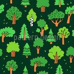 Magische Wälder Nahtloses Vektormuster