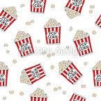 Köstliches Popcorn Nahtloses Vektor Muster