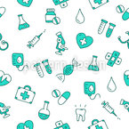 Ícones Médicos Design de padrão vetorial sem costura