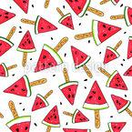 Wassermelonen-Eiscreme Musterdesign