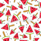 Watermelon Ice Cream Pattern Design