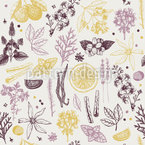 Herbal Fragrance Seamless Pattern