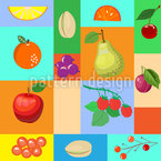 Früchte Memory Nahtloses Vektormuster