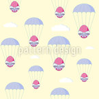 Easter Egg Skydive Seamless Vector Pattern Design