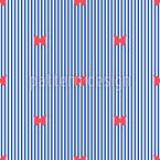 Schmetterlinge Und Streifen  Nahtloses Vektor Muster