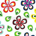 Flores E Pétalas Design de padrão vetorial sem costura