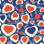 Chaotische Herzen Vektor Muster