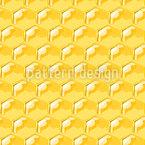 Glänzende Honigwaben Nahtloses Vektormuster