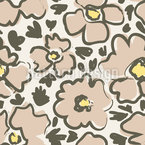 Fast Flowers Vector Pattern