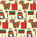 Warten auf Weihnachten Nahtloses Vektormuster