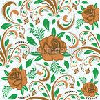 Opulente Rosen Nahtloses Vektormuster