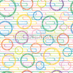 Bricks and Circles Seamless Vector Pattern Design