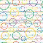 Ziegel und Kreise Nahtloses Vektormuster