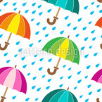 Cute Umbrellas Seamless Vector Pattern Design