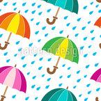 Niedliche Regenschirme Nahtloses Vektormuster