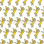 Tanzende  Bananen Nahtloses Vektor Muster