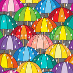 Umbrella Swarm Seamless Vector Pattern Design