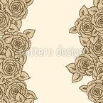 Gestreifte Dornröschen Rosen Rapportiertes Design