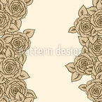 Striped Sleeping Beauty Roses Seamless Vector Pattern Design