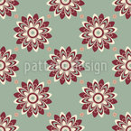 Flowers From The Sixties Seamless Vector Pattern Design