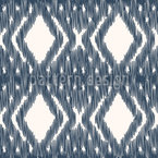 Ikat Diamond Weave Design de padrão vetorial sem costura