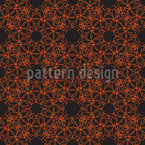 Mystic Flower Lace Seamless Vector Pattern Design