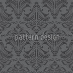 Opulence Dark Grey Seamless Vector Pattern Design