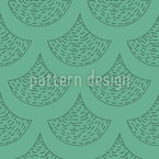 Drawn Mermaid Scales Seamless Vector Pattern Design