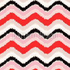 Ikat Chevron Seamless Pattern