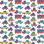 Funny Cars and Buses Vector Design