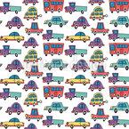 Lustige Autos und Busse Vektor Design