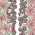 Roses and Little Flowers Repeating Pattern